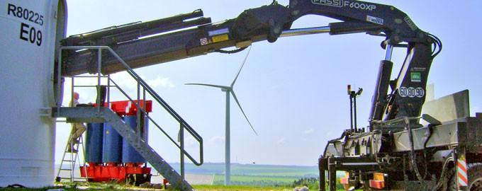 Work on windmill