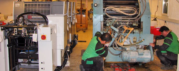 Dismantling and removal of old machines