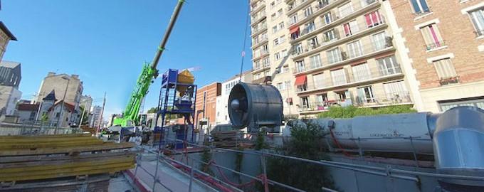 Livraison de ventilateur industriel à Paris
