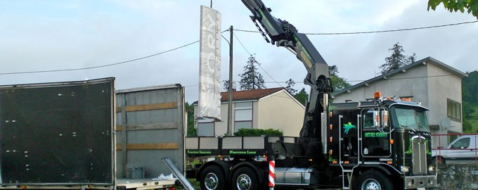 Installation of advertising totem