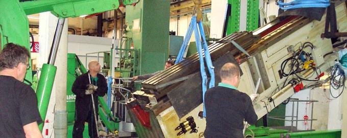 Couchage de presse industrielle