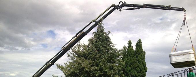 Jacuzzi crane