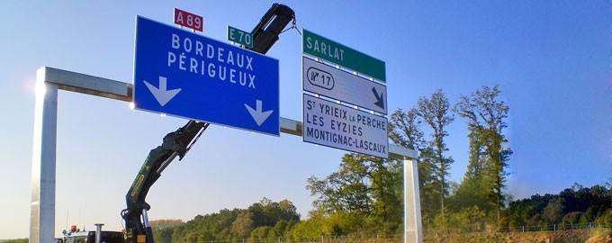 Instalación de seguridad en autopistas