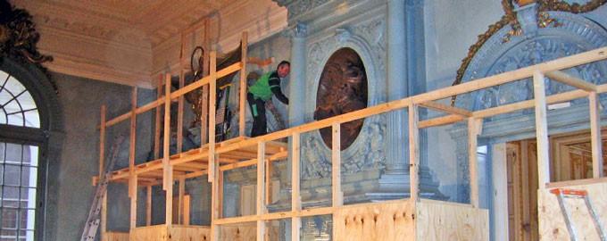 Protection de décors classés (Rénovation de locaux)