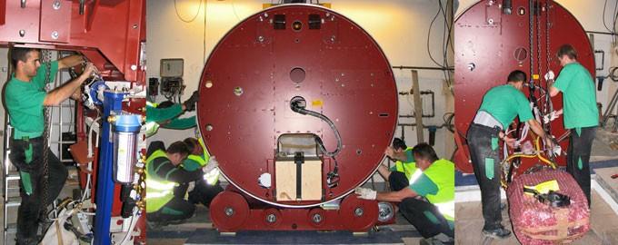 Entrega y montaje de aceleradores de partículas