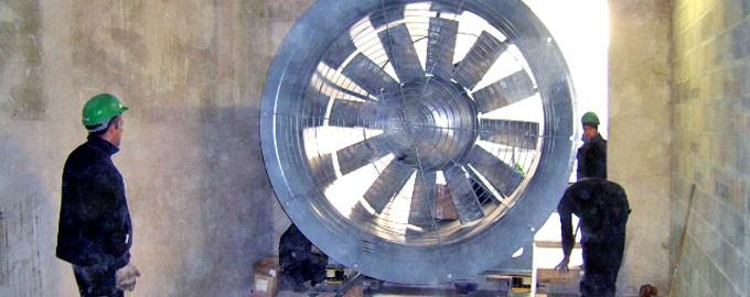 Système de ventilation de tunnel