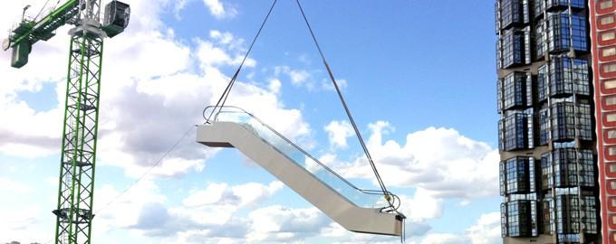 Entrega y recogida de escaleras mecánicas