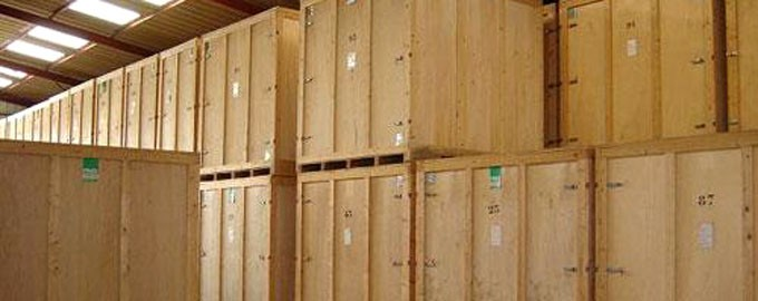 Almacenaje en contenedores de madera