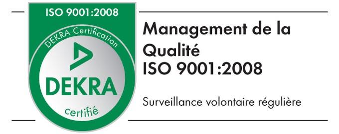 Certification Qualité ISO 9001