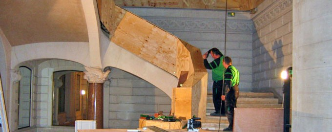 Stair protection in the context of renovation