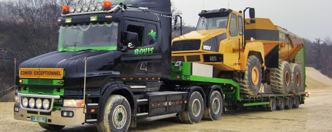 Transport d'engins de chantiers