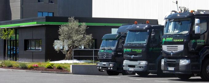 Une flotte de véhicules variés, adaptés à tous types de chantiers