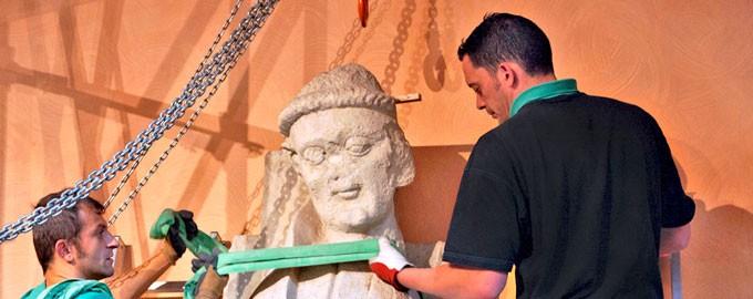 Manipulación de esculturas
