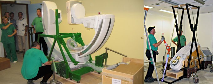 Delivery and installation of vascular machines