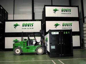 Stockage en container métallique Groupe BOVIS