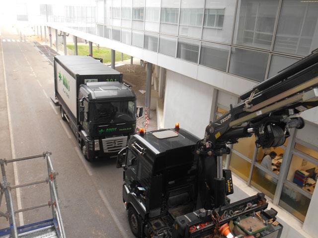 Déménagement complet d'hôpital à Caen par l'agences DML