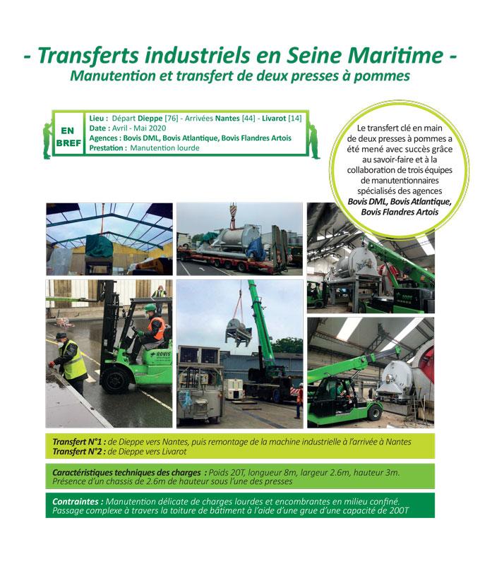 Transfert industriel clé en main pour l'industrie agro-alimentaire par les agences Bovis DML, Bovis Atlantique, Bovis Flandres Artois