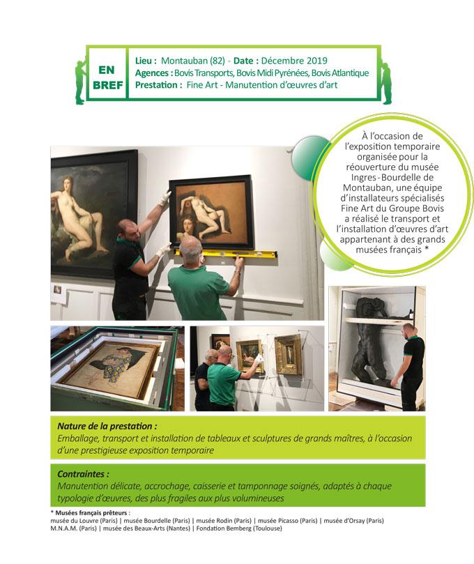 Transport d'œuvre d'art, manutention délicate de sculpture et accrochage soigné de tableaux