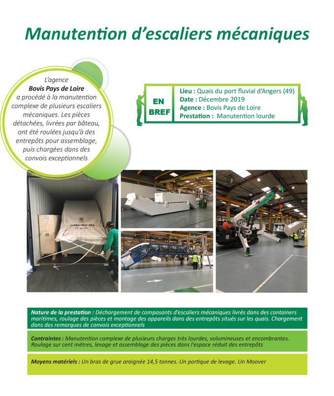 Manutention lourde et installation complexe d'équipement urbain par Bovis Pays de Loire