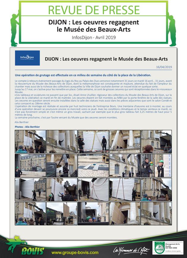 Déménagement des réserves du Musée des Beaux-Arts de Dijon