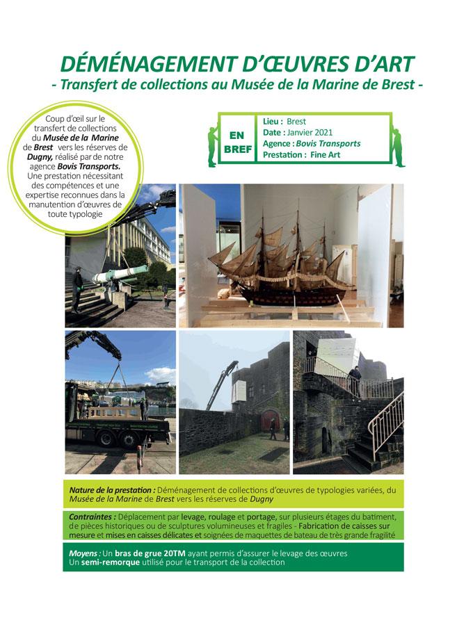 Manutention de statues à Paris par notre agence Bovis Transports