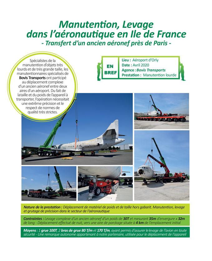 Levage de machine high tech à Paris par Bovis Transports