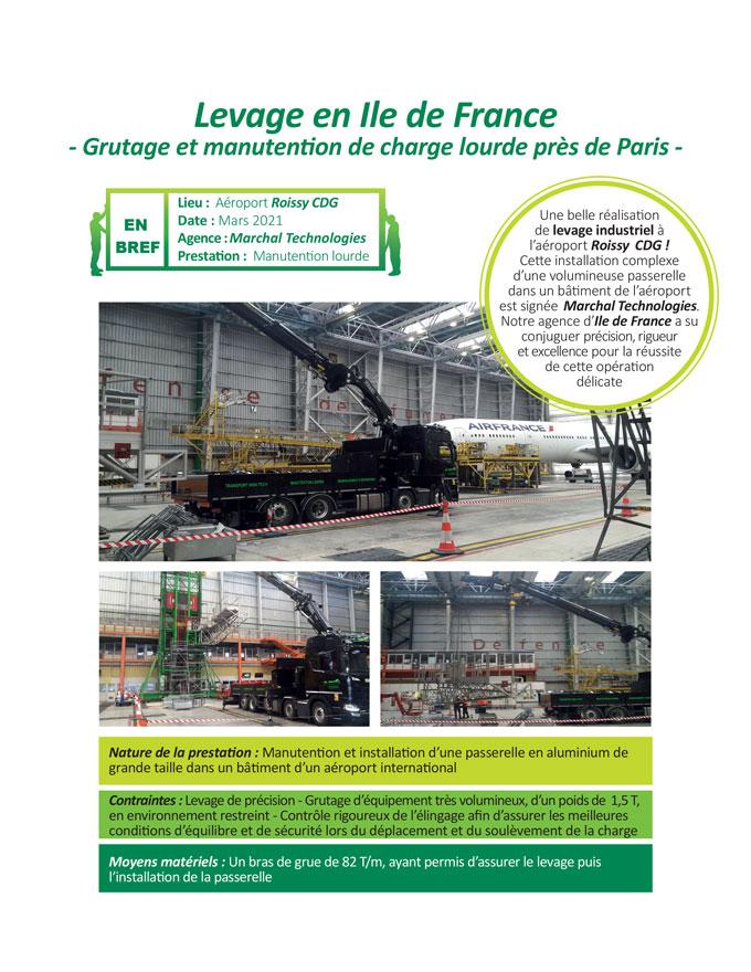 Installation d'escalator à Paris par Marchal Technologies