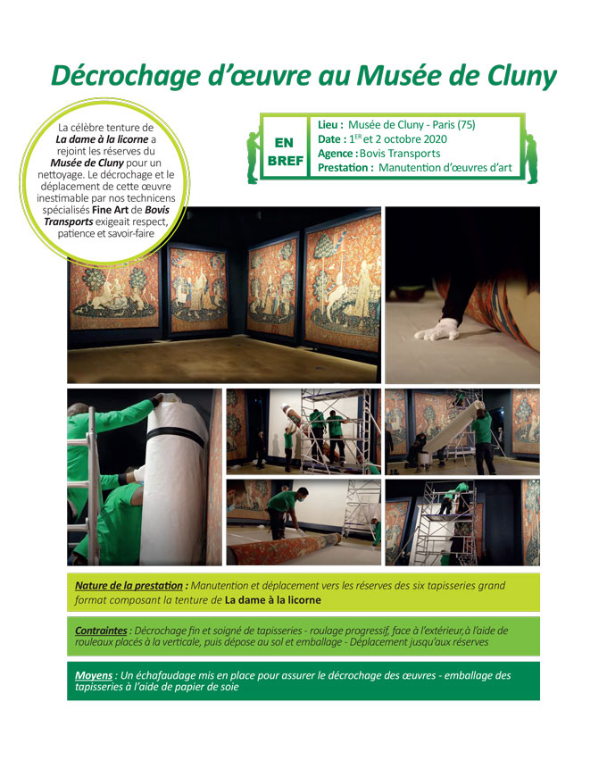 Déménagement d'œuvre d'art à Paris par Bovis Transports