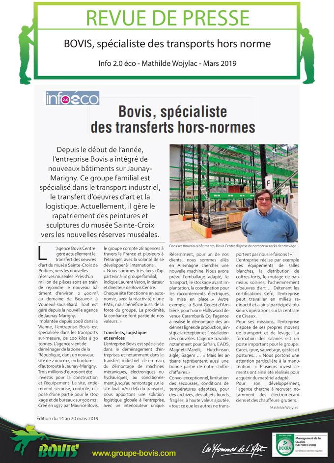 L'agence Bovis Centre gère le transfert des œuvres d'art du musée sainte-Croix à poitiers