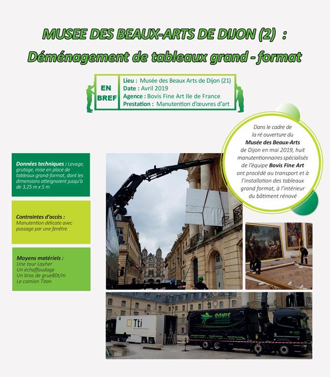 Transfert délicat et soigné des tableaux du MBA Dijon