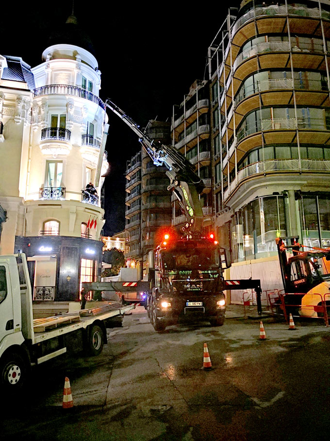 Manutention de nuit à Monaco BOVIS
