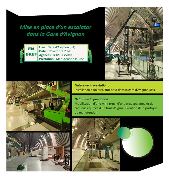 Manutention escalator Bouches du rhone