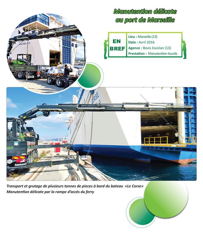 Manutention d licate au port de marseille nos actualit s groupe bovis - Adresse du port de marseille ...