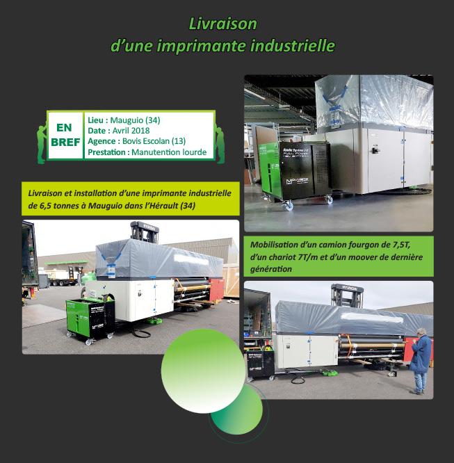 manutention imprimante industrielle par BOVIS