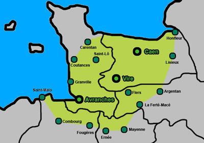 Zone de chalandise de l'agence DML - Bovis sur toute la Normandie