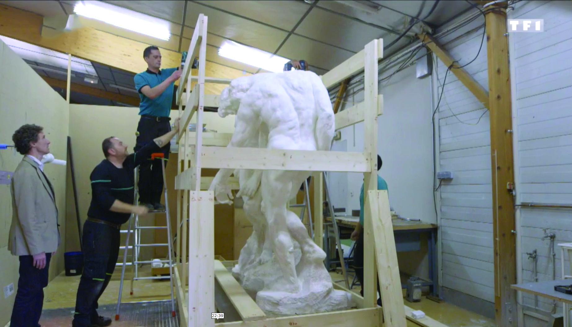 Manutention d'une sculpture de Rodin - Bovis Nantes
