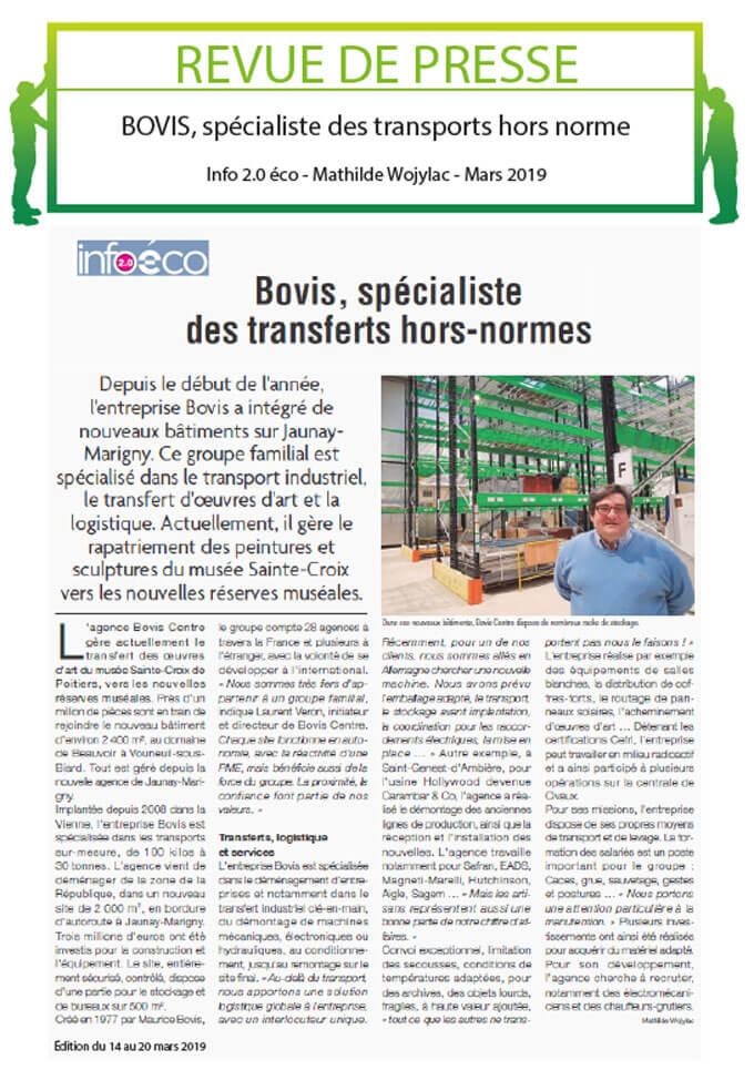 Groupe Bovis dans les media
