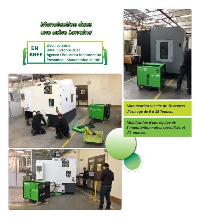 Manutention en usine Rousselot manutention