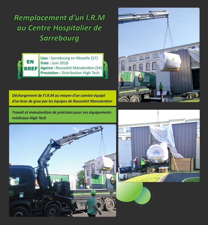 Manutention et livraison IRM Rousselot Manutention