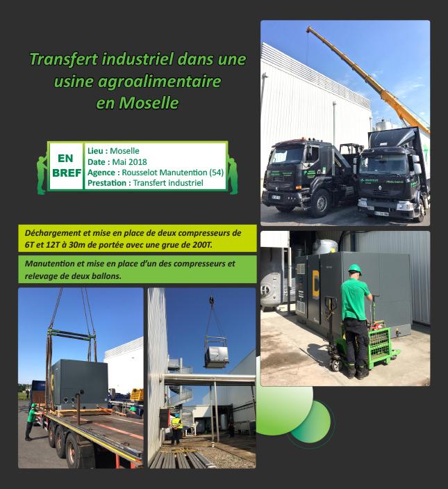 Transfert industriel dans une usine agroalimentaire en Moselle