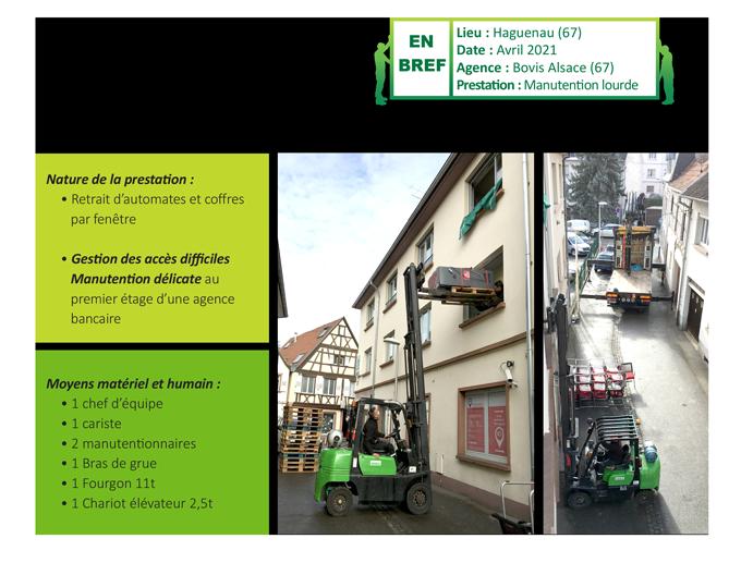 Manutention de coffrefort et d'automates bancaires près de Strasbourg