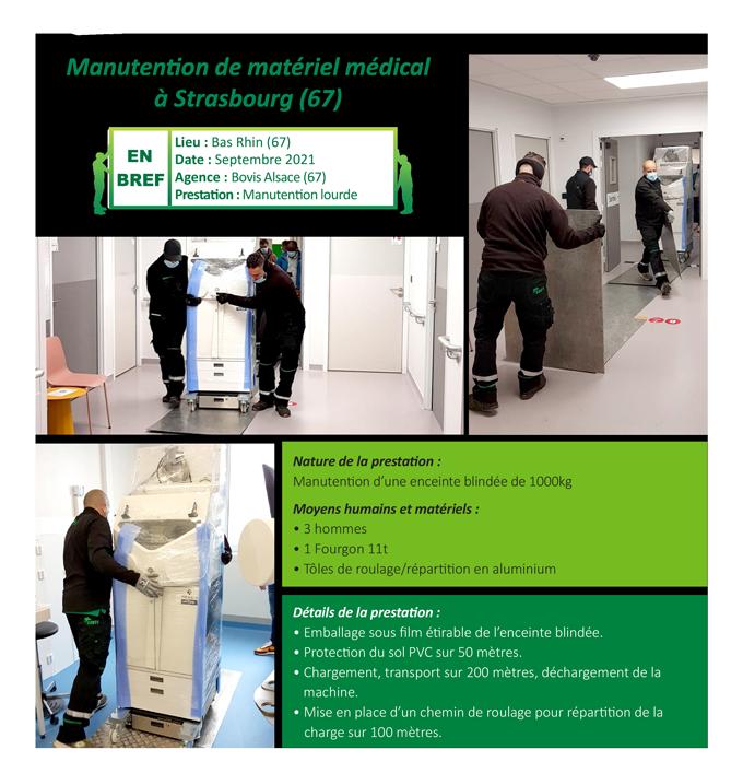 Manutention de matériel médical Strasbourg