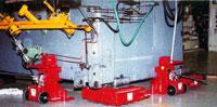 Manutention avec crics hydrauliques