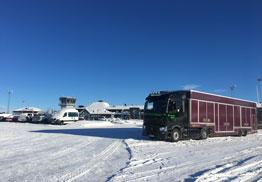 Transport de prototypes automobiles pour tests grand froid par Marchal Technologie