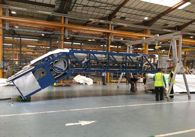 Manutention lourde d'escalier mécanique en Suisse par Bovis Helvetia