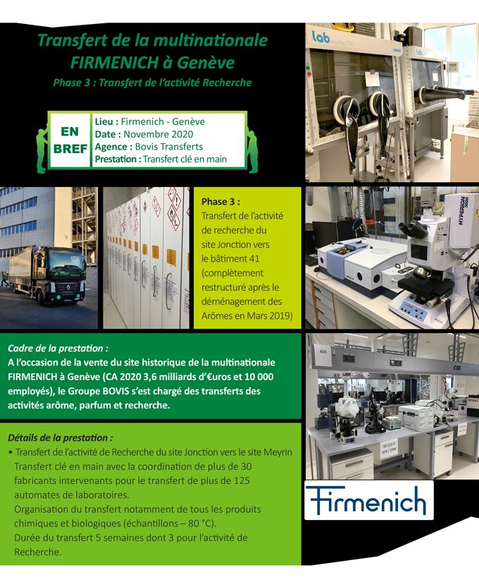 Déménagement de laboratoire clé en main Suisse