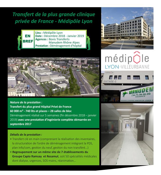 Transfert de la plus grande clinique privée de France - Médipôle Lyon