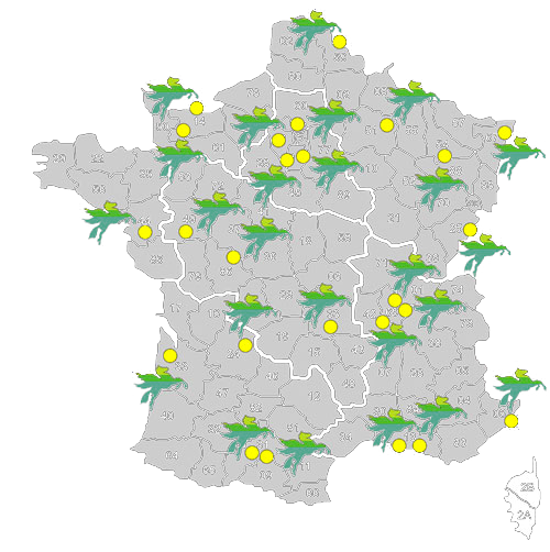 Carte des agences BOVIS en France