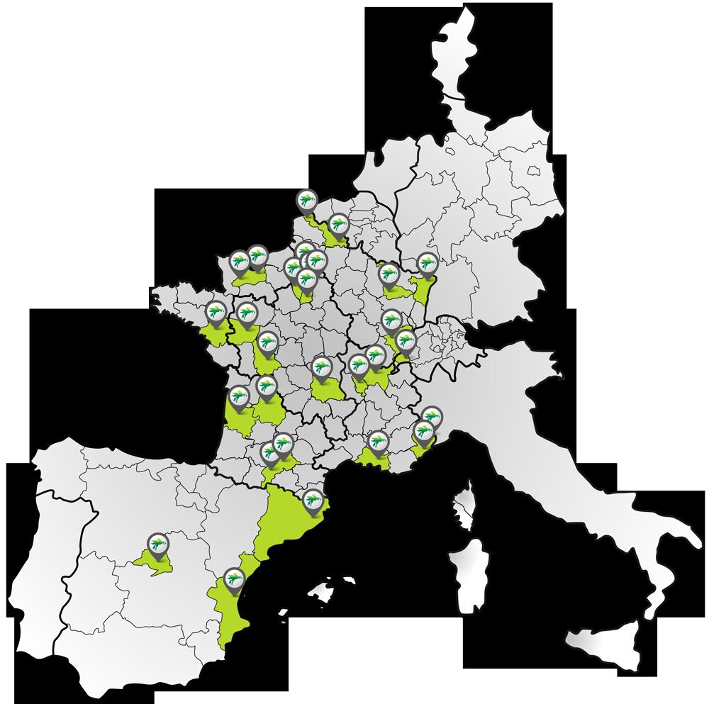 Carte agences BOVIS europe