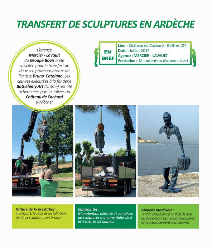 Transport, manutention délicate  et installation soignée d'œuvres d'art contemporaines